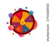 fortune wheel with confetti...   Shutterstock .eps vector #1741060553