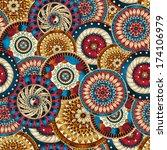 seamless doodle flower... | Shutterstock .eps vector #174106979