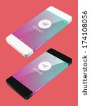vector template phone in flat...