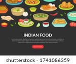 indian food landing page... | Shutterstock .eps vector #1741086359