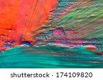 abstract art background. hand... | Shutterstock . vector #174109820