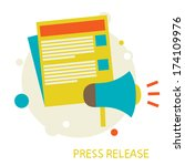 press release | Shutterstock .eps vector #174109976