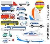 vector illustration of set of... | Shutterstock .eps vector #174110186