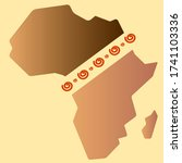 africa day greeting card...   Shutterstock .eps vector #1741103336