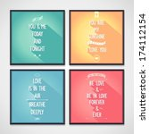 set of posters with phrases... | Shutterstock .eps vector #174112154
