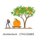 organic production cartoon...   Shutterstock .eps vector #1741126883