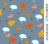 Seamless Pattern With Leaves ...