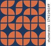 70's geometric shapes pattern.... | Shutterstock .eps vector #1741146149