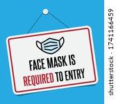no face mask no entry sign.... | Shutterstock .eps vector #1741166459