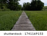 Rustic Old Wooden Boardwalk...