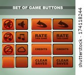 set of buttons. vector...