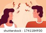 Man And Woman Quarrel And Swear ...