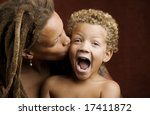 african american mother and... | Shutterstock . vector #17411872