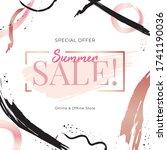 sale banner template design.... | Shutterstock .eps vector #1741190036