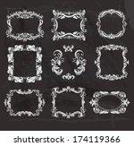 set of vintage frames on the...   Shutterstock . vector #174119366