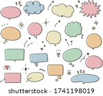 this is set of handwriting... | Shutterstock .eps vector #1741198019