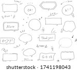this is set of handwriting... | Shutterstock .eps vector #1741198043