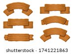 wood banner. old wood sign... | Shutterstock .eps vector #1741221863