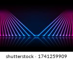blue and ultraviolet neon laser ... | Shutterstock .eps vector #1741259909