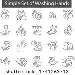 a simple set of icons... | Shutterstock .eps vector #1741263713