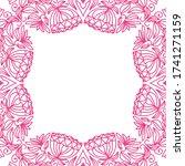 decorative floral frame. vector ... | Shutterstock .eps vector #1741271159