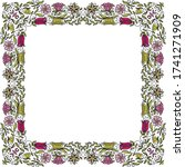 decorative floral frame. vector ... | Shutterstock .eps vector #1741271909