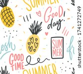 summer seamless pattern with... | Shutterstock .eps vector #1741272749