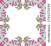 decorative floral frame. vector ... | Shutterstock .eps vector #1741273199