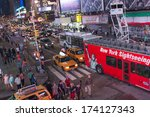 new york city   jun 8  famous... | Shutterstock . vector #174127343