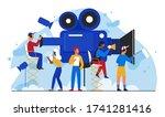 cinema film production vector... | Shutterstock .eps vector #1741281416