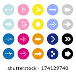 arrow icon set  | Shutterstock .eps vector #174129740