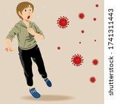 girl go outsde for exercise.... | Shutterstock .eps vector #1741311443