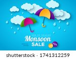 monsoon sale offer banner... | Shutterstock .eps vector #1741312259