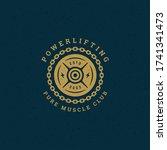 fitness logo or badge vector...   Shutterstock .eps vector #1741341473