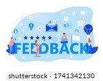 feedback concept vector. user...