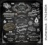 vector set of calligraphic... | Shutterstock .eps vector #174134834