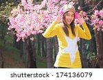 portrait of beautiful thai...   Shutterstock . vector #174136079