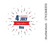 4th july independence day.... | Shutterstock .eps vector #1741368353