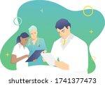 medical staff concept. against... | Shutterstock .eps vector #1741377473
