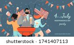 america independence day bbq... | Shutterstock .eps vector #1741407113