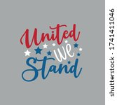 united we stand  happy... | Shutterstock .eps vector #1741411046