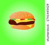 vector illustration of stylized ... | Shutterstock .eps vector #1741445429