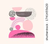 abstract shapes  elements... | Shutterstock .eps vector #1741455620