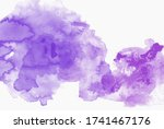 abstract violet watercolor on... | Shutterstock . vector #1741467176