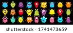 happy halloween. monster...   Shutterstock . vector #1741473659
