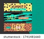 sale banner layout design. set... | Shutterstock .eps vector #1741481660