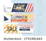 sale banner layout design. set... | Shutterstock .eps vector #1741481663