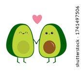avocado family. mother  father...   Shutterstock .eps vector #1741497506