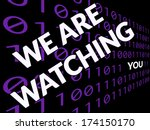 text about being watched on... | Shutterstock . vector #174150170