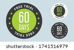60 days free trial stamp vector ... | Shutterstock .eps vector #1741516979